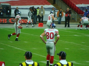 Shockey warming up at Wembley, London in 2007