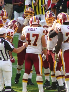 Chris Cooley will need more than 1 catch a game to lift the Redskins - picture by Lawrence Vos