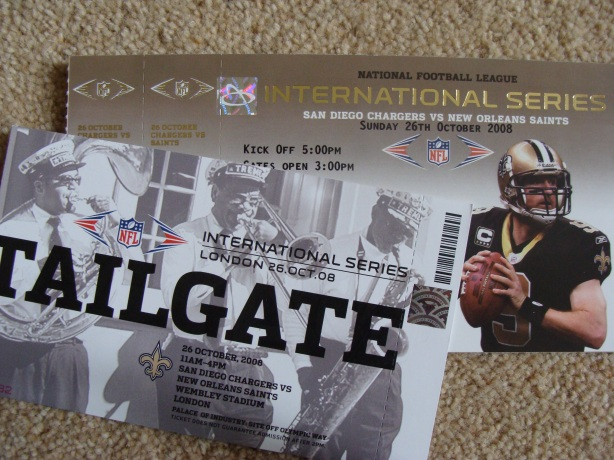 Have the New Orleans Saints handed over a brown envelope to the NFL marketing people in London? There are TWO teams coming to London after all.