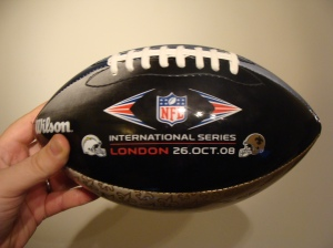 My commemorative football that did NOT get confiscated by the West Midlands Transport Police