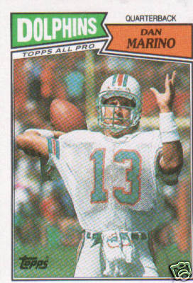 Where my interest began - a 1987 Topps Dan Marino card
