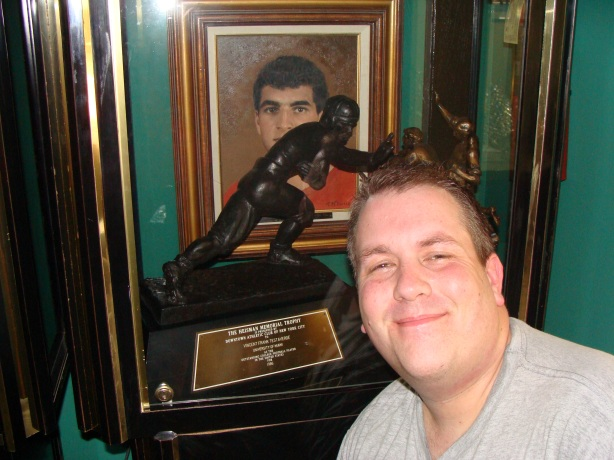 Yep here I am with the Miami U awarded real 1986 Heisman Trophy