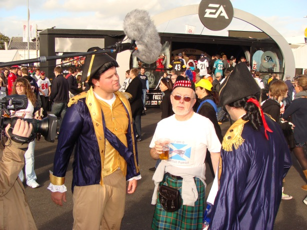 Some of the fans dressed up - Nice sporran !