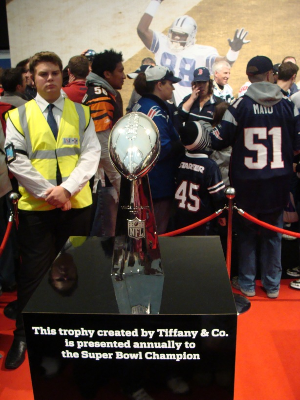 Shall I try to grab the Superbowl trophy and make a dash for it?