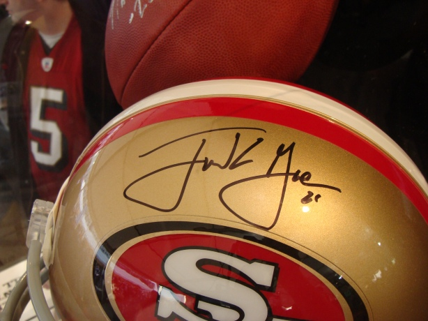 This signed Frank Gore San Francisco 49ers helmet looked particularly impressive