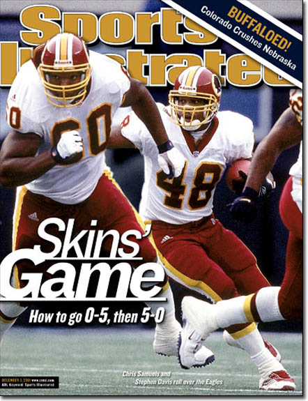 Chris Samuels #60 was a Redskins superstar - Nuff respect due
