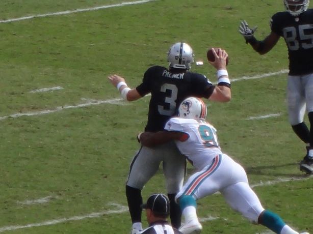 My picture of former #1 overall pick Carson Palmer playing in Miami in 2012.