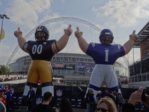 The Vikings and Steelers season had been like these inflatables - full of hot air.