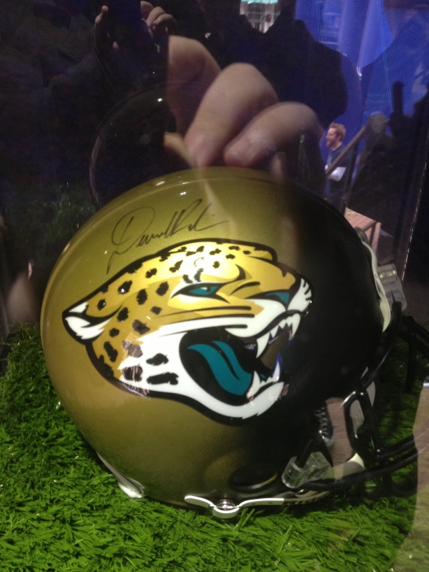 Denard Robinson, the Jaguars rookie signed this helmet